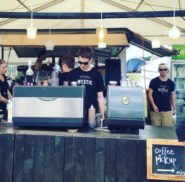 Mt Atkinson Coffee kept us caffeinated at Festival One.