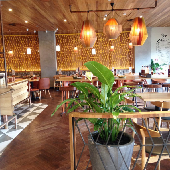 I think Nandos must have the nicest interior fit out of a fast food restaurant in the city.