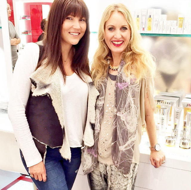 The gorgeous Anna Reeve and I, at Elizabeth Arden Boutique Queen St shooting a video on their amazing beauty services!