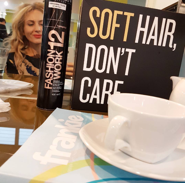 At BLAZE Newmarket having a haircut and blow-dry using Redken.