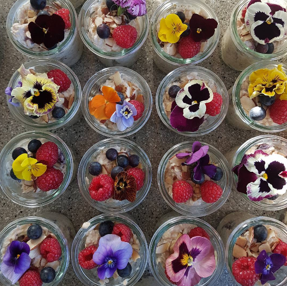 The breakfast bircher muesli cups at airbnb media breakfast on Friday.