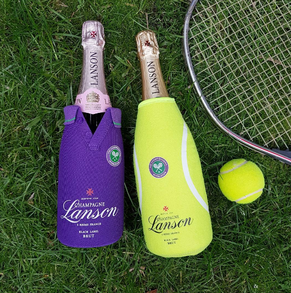 Champagne Lanson is the official sponsor of Wimbledon