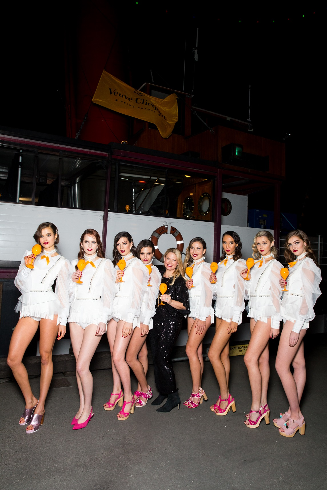 Kathryn Wilson and her models at the Kathryn Wilson Spring Summer 16 Launch