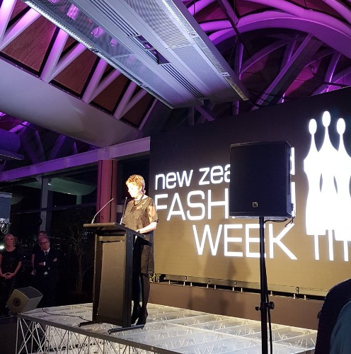 Dame Pieter Stewart at the opening of #NZFW 2016