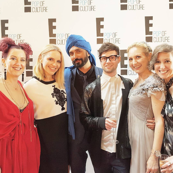 Sky TV Emmys party, with Belinda Nash of nzgirl, Mel Homer of the cafe TV, Colin Mathura-Jeffree, Jarrad Godman, me, and Rebecca Zwitser.