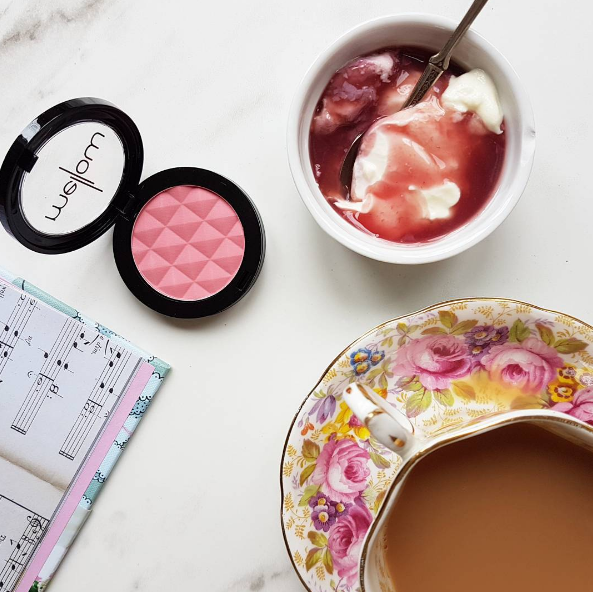 In the pink: Mellow Cosmetics blush $17 and The Collective Dairy new pot set yoghurt in Raspberry.