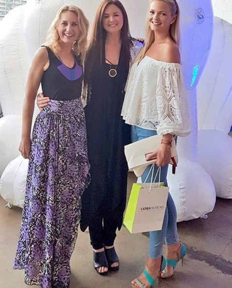 With Janelle Rennie of mediajam and Chrystal Chenery at tonight's Ultraceuticals beauty launch.