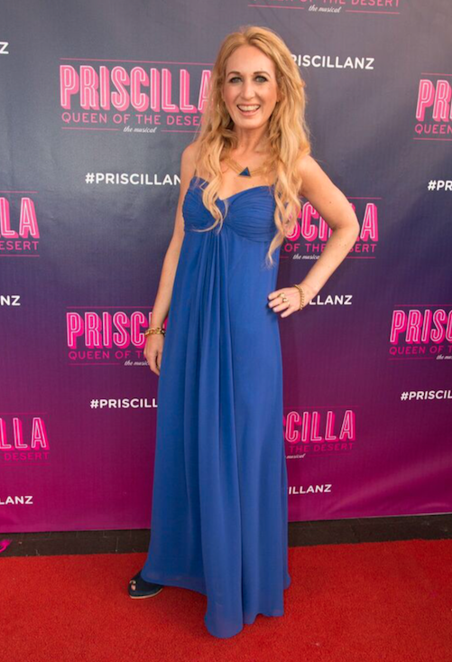 What I wore at Priscilla Queen of the Desert; dress by Duchess, necklace by Zoe & Morgan, shoes by Kathryn Wilson.