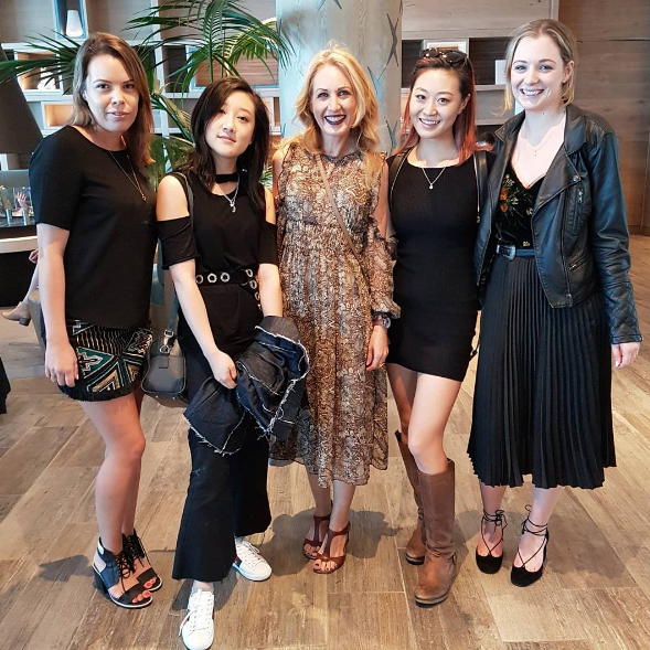 Girls at Hilton for Specsavers x Kim Cattrall lunch.