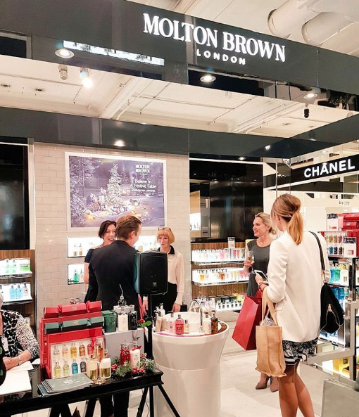 Beauty media at the New Zealand opening of Molton Brown at Smith and Caughey's