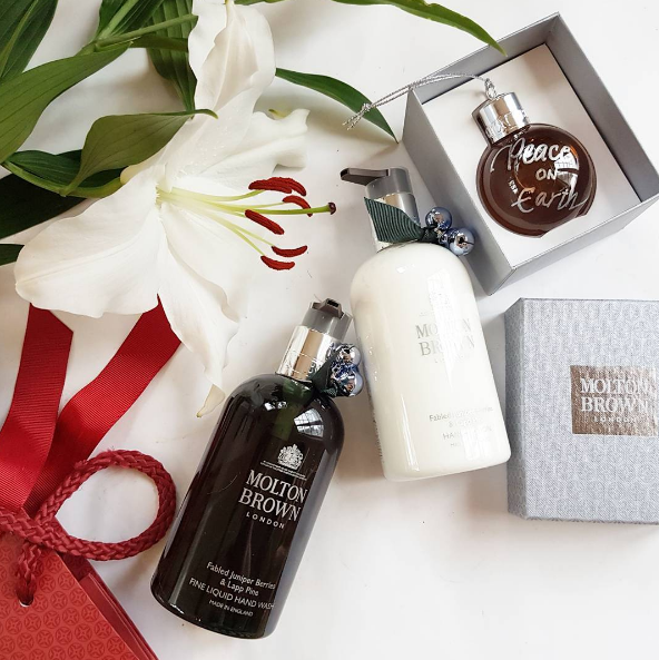 Molton Brown Fabled Juniper Berries & Lapp Pine is the perfect Christmas fragrance!