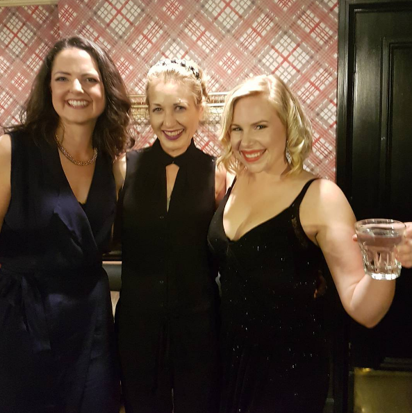 With the fabulously talented actresses Caroline Everitt-Gardner and Alex Foster at the Albion for opening night of the Shakespeare Revue.