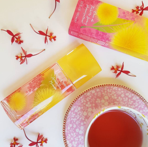 The pretty new Green Tea fragrance by Elizabeth Arden is Green Tea Mimosa