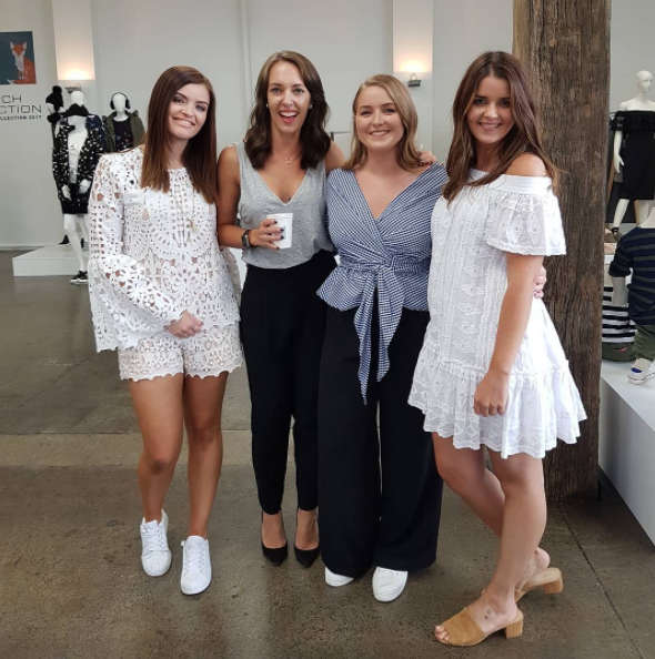 The gorgeous girls at @hustlebustle at today's @seedheritage & French Connection press day!