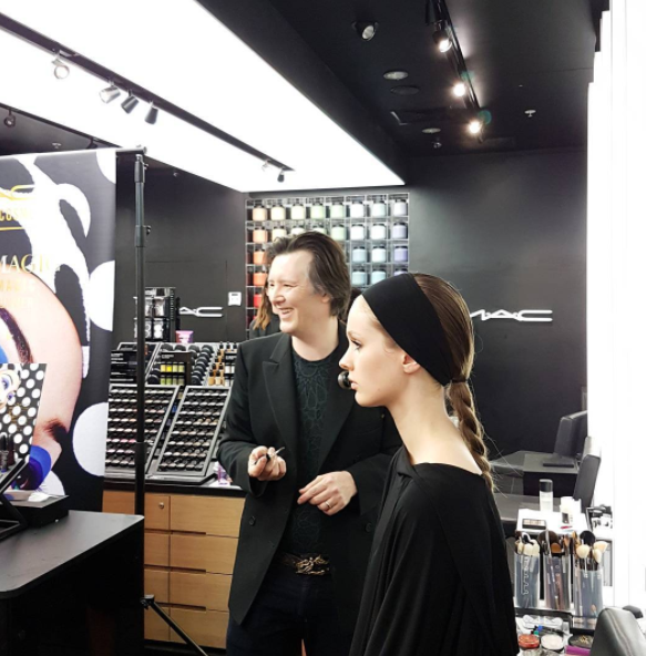 At MAC Britomart today for the beauty media launch event and demonstration by MAC artist Kabuki.
