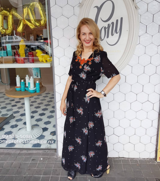 Got my hair did for my Japan trip tomorrow, at @ponyprofessionnel today with the amazing Marie. My embroidered maxi wrap dress by fabulous local brand @tuesdaylabel