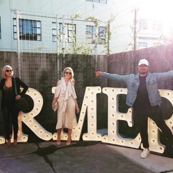 At @farmersnz AW17 fashion showcase this week, with @thesleekavenue and @sammysalsastyle in front of the giant Farmers letters! We viewed the upcoming collections arriving into Farmers stores nationwide and heard from them on the key trends.