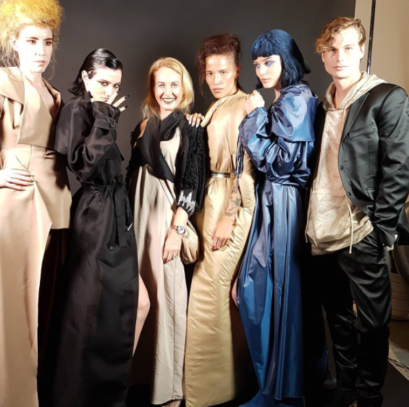 I'm with the models! At Zambesi x Huawei P10 #huaweiP10nz party. Models wear bespoke dresses by Zambesi. I'm wearing dress by Kesho, Halter by Zambesi, jacket by Trelise Cooper, bag Marc by Marc Jacobs, shoes Dune London.