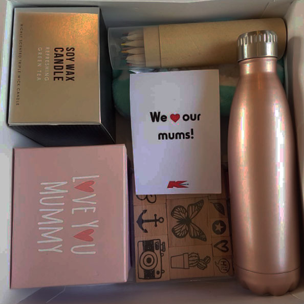 Kmart for the mothers day gift box and DIY craft pack for my children to make me a mother's day card