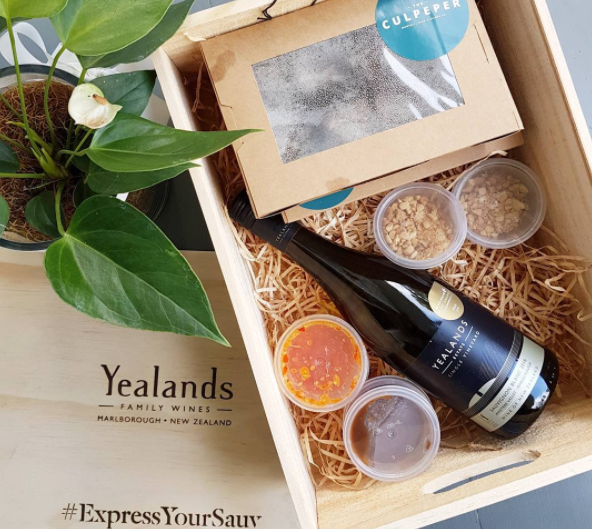 A teaser of tomorrow's dinner I'll be cooking online, with people across New Zealand, for International Sauvignon Blanc Day with Yealands wine and The Culpeper