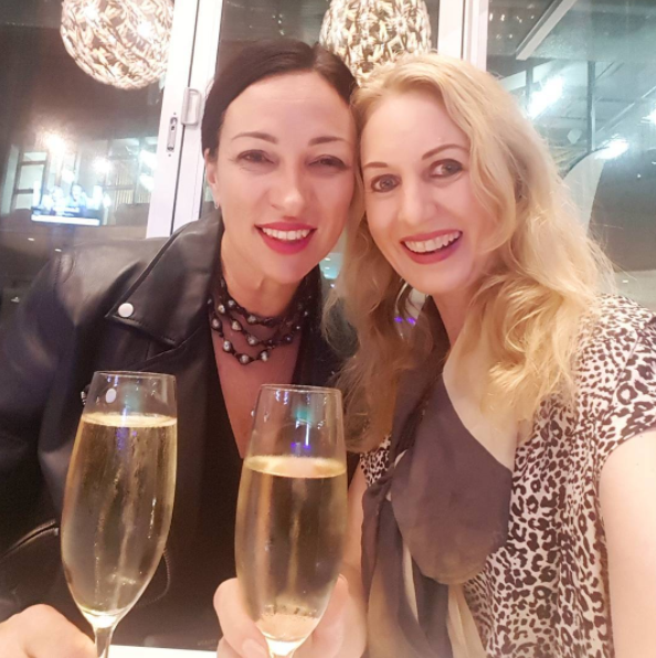 With the gorgeous Juls at the contemporary dance NZ Ballet show 'Three by Ekman', tonight at ASB Waterfront Theatre. We absolutely loved it; clever, sexy, and stylish costumes to boot.