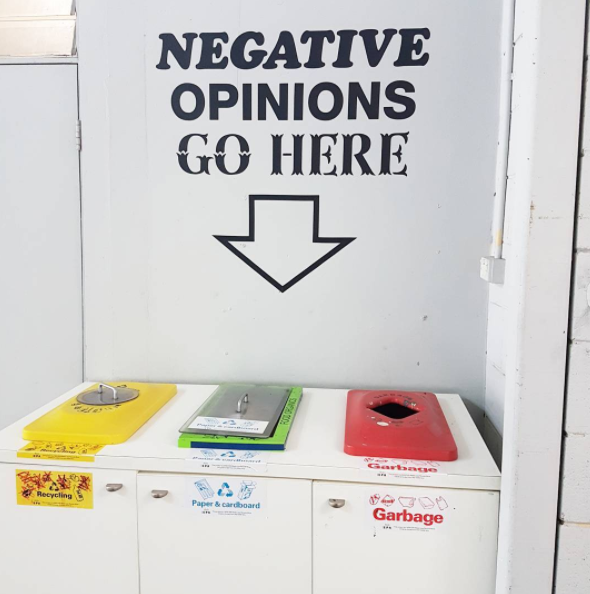 Negative Opinions Go Here. Artwork at MCL Gallery exhibition 'Cause and Effect: Artists for Social Change.'