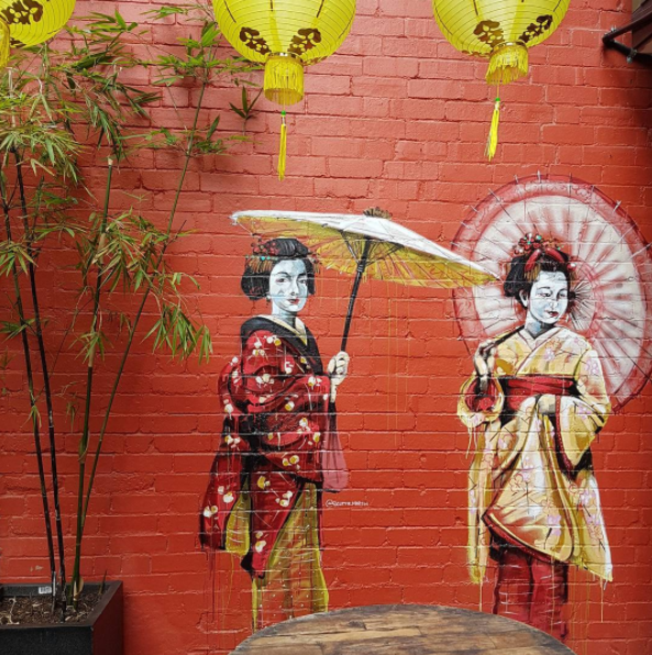 Japanese murals at Kensington Street in Chippendale arts precinct Sydney