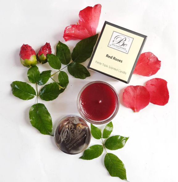 This smells amazing! Red Roses candle by Be Enlightened