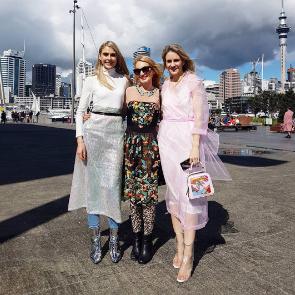 Pictured above: With the gorgeous sisters of @florenceandfortitude at fashion week and the sun's finally out.