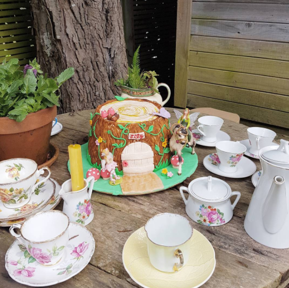 From fashion week to fairy weekend...throwing a fairy tea party in the garden, followed by crafts; making flower headbands for 8 wee girls today in the Fairy Grotto under the deck. Cake is a fairy tree house. Should be much cuteness.