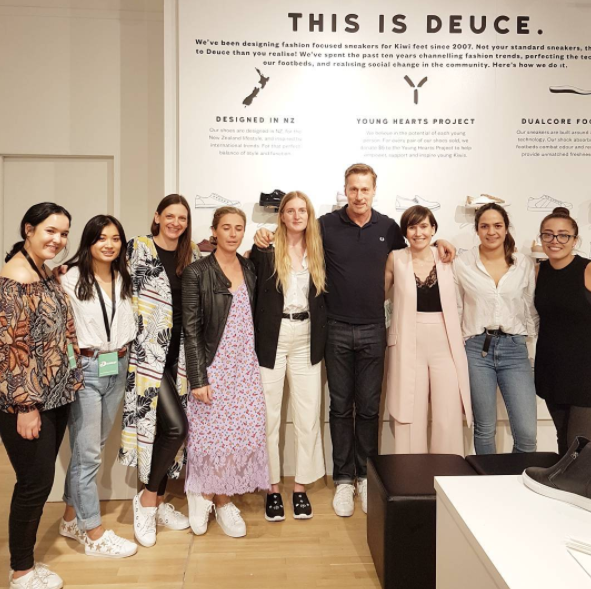 The lovely team at @merchant1948 at tonight's store opening of Deuce pop-up in Teed St Newmarket. Did you know $5 from each shoe sold goes to youth charities in New Zealand, with over $900,000 raised!? Well done, Deuce and Merchant 1948 footwear!