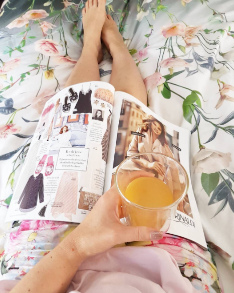 What I wore today: Peter Alexander pjs, sick in bed with lemon honey drink. Does anyone else have the head cold going around?
