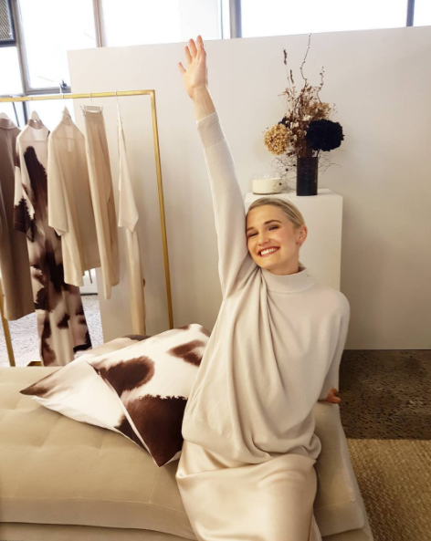 Long weekend. Hands up if you're excited. Model wears Juliette Hogan