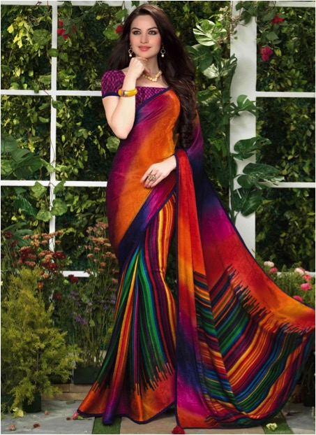 abstract saree