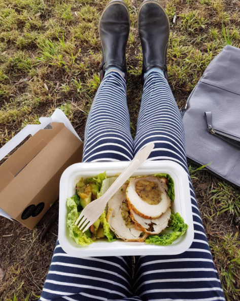 Always the highlight of my day...eating! Yummy gourmet picnic boxes by local company @picnicbox at today's General Collective artists trip to Gibbs Farm sculpture park.