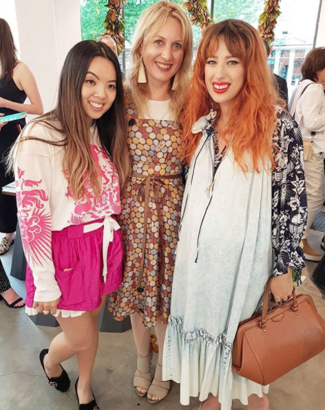 At the opening of @karen_walker playpark with fabulous Karen Walker team members, @jialiyang and @jade_leigh_kelly