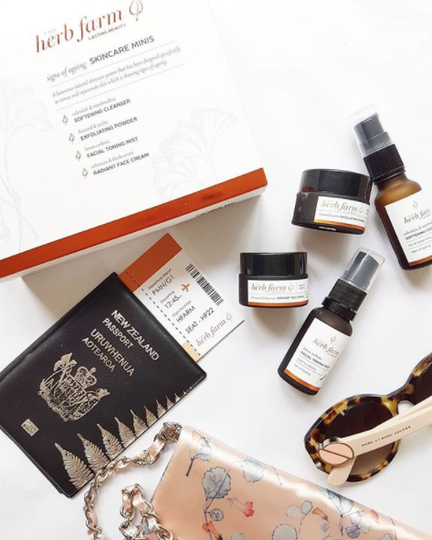 I live a good mini, and these are perfect for summer getaways- the Herb Farm has released all-natural skincare travel minis so you don't need to resort to using hotel toiletries at the resort! Radiant face cream, facial toning mist, exfoliating powder, and softening cleanser tuck into your carry on with ease. Available at @theherbfarmnz