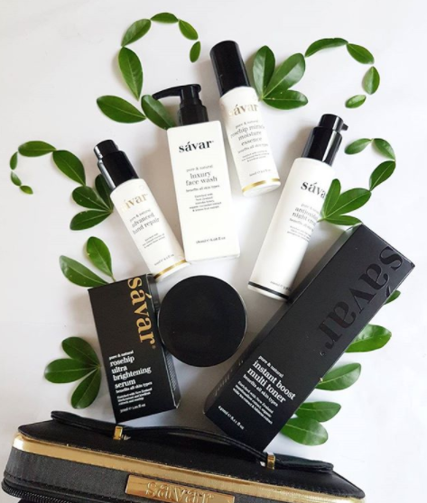 Their biggest and best pack ever- SAVAR skincare deluxe brightening pack