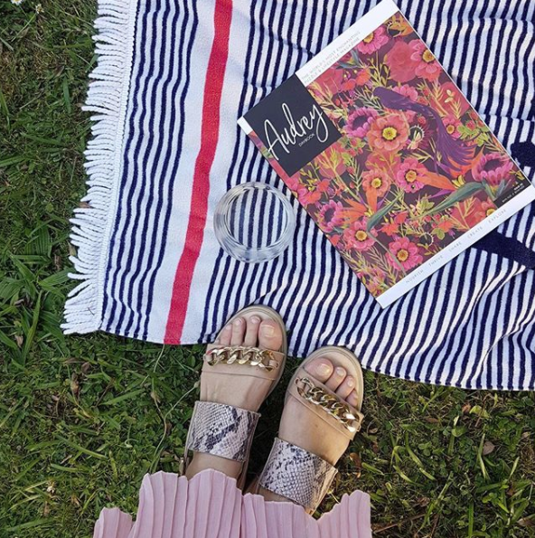 Puzzles in the garden on a summer evening in @audrey_daybook
