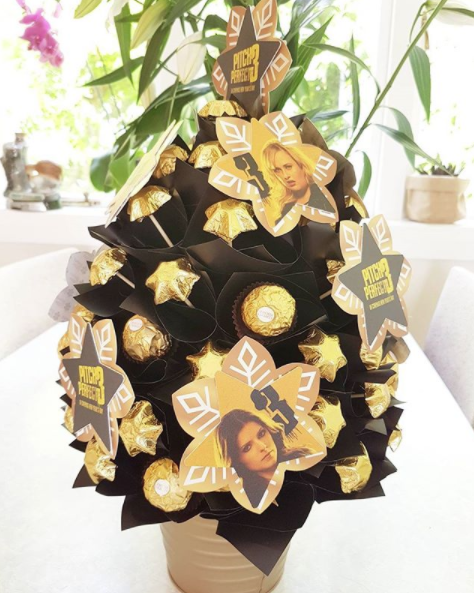 Merry Pitchmas! Pitch Perfect 3 has sent me a chocolate Christmas tree with Anna Kendrick and Rebel Wilson decorations amongst the Ferrero Rocher