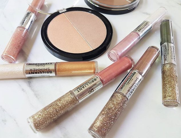 Be a shining example, in these glittering eyeshadow duos from Designer Brands Summer Lovin' collection in metallic and glitter duo eyeshadow pens, pressed illuminator and pressed bronzer. All vegan and certified cruelty-free and $12.99 to $17.99 at pharmacies and online.