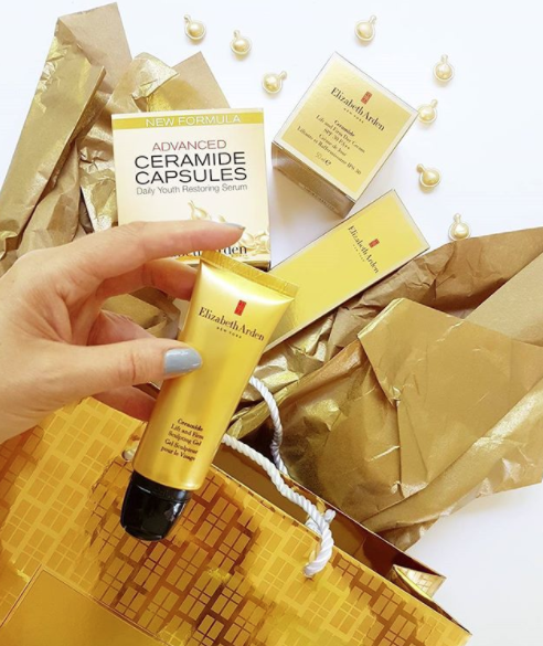 The latest member of the Ceramide family is this clever little rollerball - Elizabeth Arden Ceramide Lift and Firm Sculpting Gel- that cleanly applies the clear gel with Ceramides and skin-tightening peptides. It supports collagen and elastin to firm the look of skin. $151 on counters 29th January.